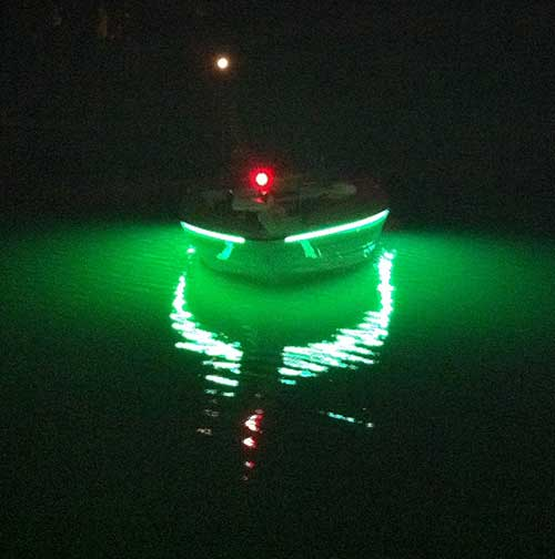 green fishing lights for boats images