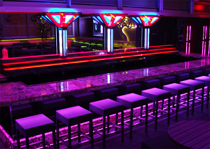 Led lighting applications for your business color changing bar aloadofball Choice Image
