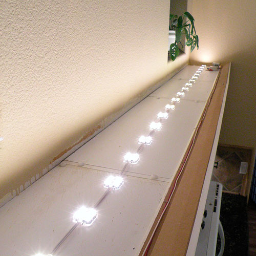 String Lights For Under Cabinets : Above Cabinet LED Lighting using LED Modules - DIY LED Projects